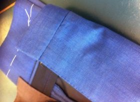 Front fly ( zip ) section carefully hand stitched and hand finished.
