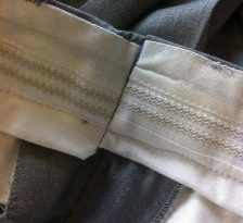 Fancy your trousers finished like this ?I particularly like the pen mark on the rubber roll cap!