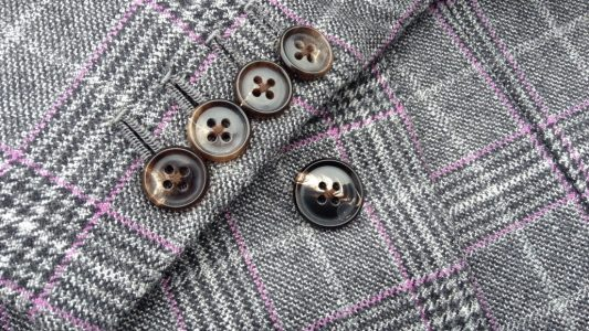 The cuff of my bespoke coat I recently made for myself. Hand made button holes and real horn buttons.